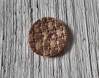 Rose Bronze Button ~1""