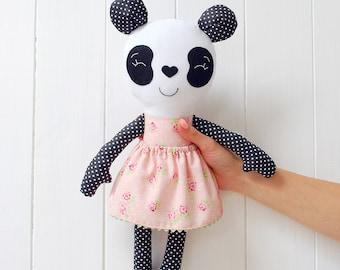 Panda Bear Panda Plush Stuffed Animal Panda Stuffed animal Panda Toy Stuffed bear Bear toy Babyshower gift Panda baby shower girl Jobuko