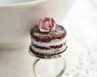 Mother's Day Gift Scented Naked Cake Ring-Chocolate-Shabby Chic Food Jewelry Wedding Party Favors