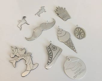 Customizable 925 Sterling Silver Pendants