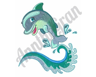 Dolphin Wave - Machine Embroidery Design