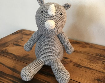 Rhino Amigurumi Crochet Pattern