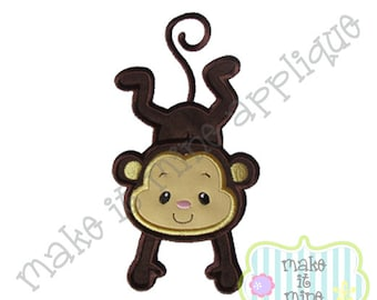 Applique Zoo Hanging Monkey Machine Applique Design