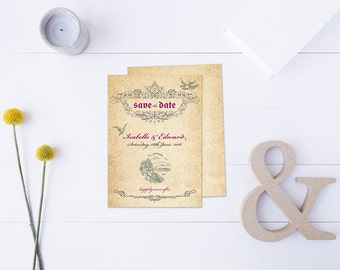 Giselle // Storybook Fairytale Style Wedding Stationery // Save the Date // DIY Printable File // Digital PDF File