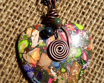 Sea Sediment Jasper Pendant