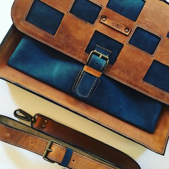 13 inch laptop bag, Mr.Jones's Rusty Briefcase, Leather Briefcase, Genuine Leather Messenger Bag, Office Bag, Man  Laptop Bag