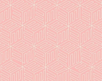 Mono Box in Pink from Maribel by Annabel Wrigley- 1/2 yard