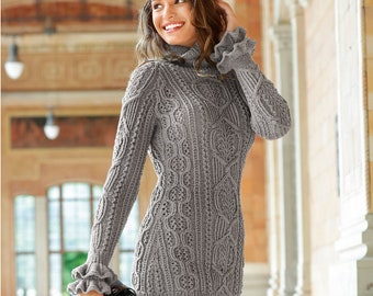 Fitted pullover, sweater of braids, sweater with flounced sleeves, pullover , wool pullover, order sweater, warm pullover, openwork sweater