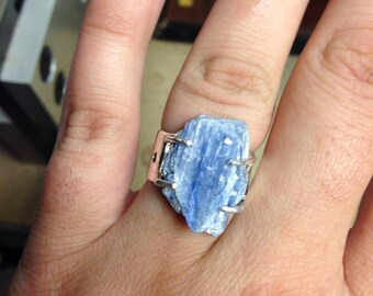Sterling Silver Blue Kyanite Ring size 7