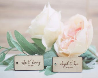 Couple Wedding Tags - Gifts, Luggage, etc