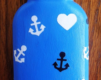 Love the Ocean| Refuse to Sink Painted Bottle