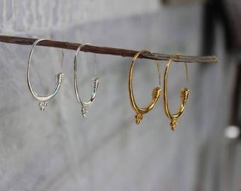 Hoop Earrings, 925 Silver Earrings, Sterling Silver Hoops, Plain Silver Earrings, 18k Gold plated hoops, Gold vermeil Earrings
