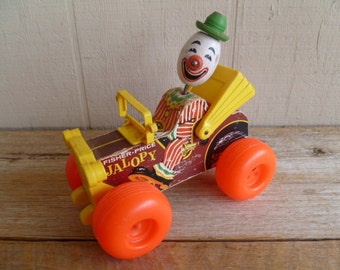 Vintage  Fisher Price Jalopy Pull Toy
