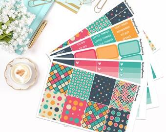 Vintage - Weekly Kit | Erin Condren Vertical Life Planner Stickers