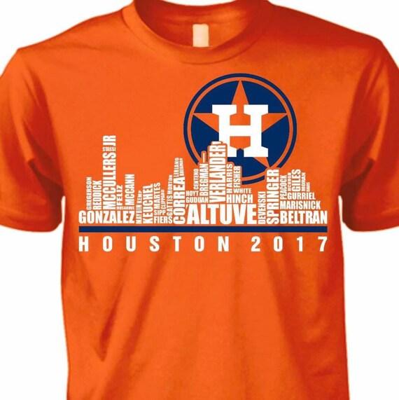 Houston Designer: Houston Astros Skyline T-shirt/ Houston Astros/ World Series