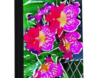 A5 Pink Orchids Notebook Watercolor collection