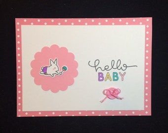 Hello Baby Bunny Greeting Card