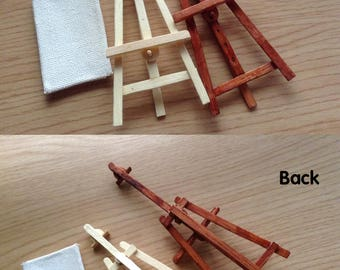 1/12 Miniature Adjustable Easel with Canvas, Miniature Adjustable Easel, Miniature foldable easel, Miniature Canvas, Miniature furniture