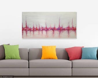 Reflections original abstract acrylic canvas painting