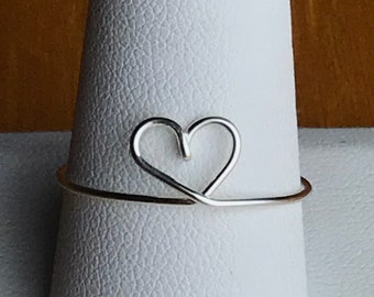 Dainty heart ring, sweetheart ring, rings for women, rings for girls, bridesmaid gifts, Gifts under 15