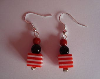 Collection / red earrings