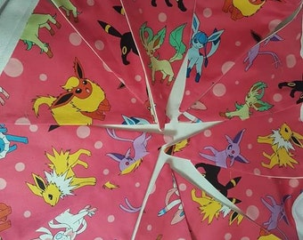 bunting. flags. pokemon. pocket monsters. Evie. Fabric flags. Homemade flag bunting. Birthday.