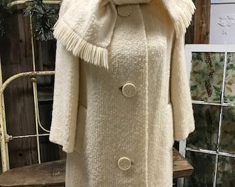 60's Cream Lightweight Coat