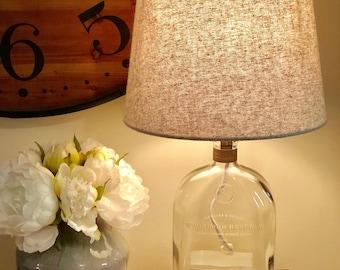 Woodford Reserve bourbon bottle lamp