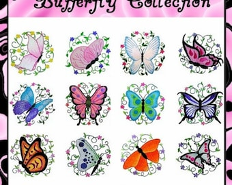 Butterfly Collection- Machine Embroidery Designs