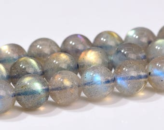 "5MM Gray Labradorite Beads Grade AAA Genuine Natural Gemstone Full Strand Round Loose Beads 15.5"" BULK LOT 1,3,5,10 and 50 (102178-504)"