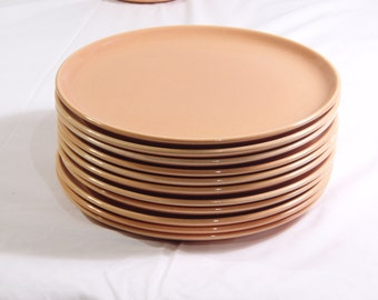 SCARCE Russel Wright Steubenville American Modern CANTALOUPE Dinner Plates