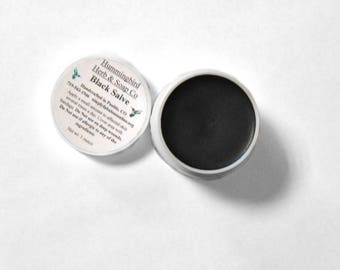 Black Drawing Salve - Traditional Black Salve - Activated Charcoal Balm - Natural Skin Care - Old Fashioned Splinter Removal Treatment