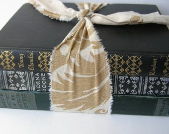 Blue Decorative Books - Blue Vintage Book Lot - Home Decor - Old Books - Photo Prop - Book Prop - English Poetry - A Romance of Exmoor