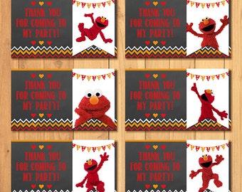 Elmo Party Tags Chalkboard * Elmo Birthday * Elmo Party Tags * Elmo Favors