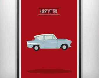 Harry Potter minimal minimalist movie poster