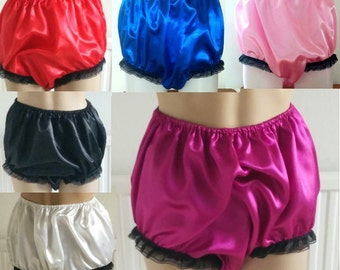 Sensuous Satin Granny Knickers - Loose Fit available in 15 colours sissy