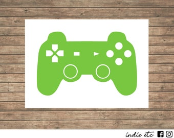 Game Controler Vinyl Decal - Choose Your Color and Size