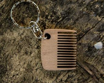 Mini comb | Wooden beard comb | Keychain comb | Beard Comb | Beard Brush | Moustache Comb