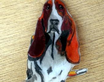 basset hound badge