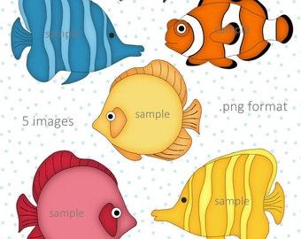 Fishy - Digital Scrapbook Fish Clipart Graphics