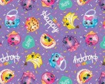 Shopkins Color Me Happy,  # 64157A620715,  Springs Creative, Purple with Bright Figures