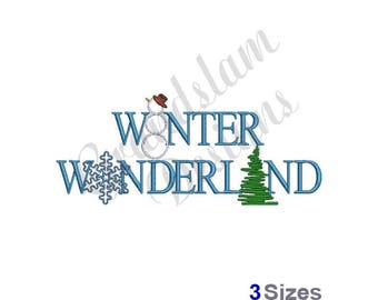 Winter Wonderland - Machine Embroidery Design