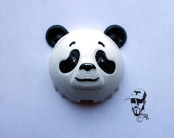 Panda ID badge holder