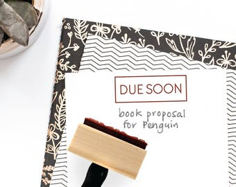 Due Soon Stamp | Bullet Reminder Planner for Minimalist Journal | Simplified Simple Calendar | Wood Mounted Rubber Stamp by Creatiate | BJ1