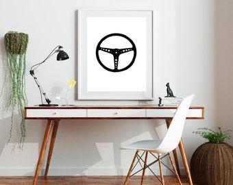 Steering Wheel Print // Wall Print
