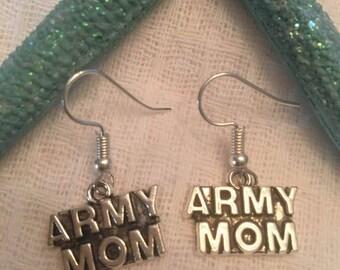 Army Mom Earrings,Army Mom,Army,Military Jewelry