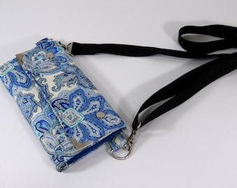 Crossbody wallet organizer, wristlet purse, crossbody smartphone wallet, small passport purse, women purse, or crossbody cell phone bag