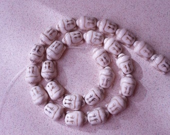 Magnesite Gemstone Buddha Head Shape Beads Size Approx.16x12mm 16 Inch
