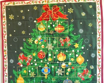 Christmas tree advent calendar, adults advent calendar, fabric advent calendar, advent calendar with pockets, reusable advent calendar