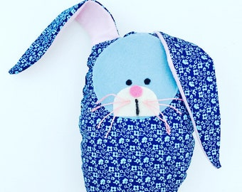 Fabric Easter Egg Bunny Toy